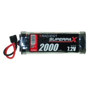 RADIENT RADIENT 7.2V NIMH 2000MAH SUPERPAX STICK PACK WITH DEANS CONNECTOR