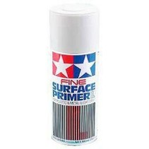 TAMIYA SPRAY FINE SURFACE PRIMER WHITE FOR PLASTIC AND METAL  180ML  87044