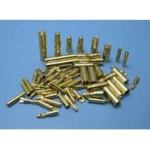 HY GOLD CONTACTS 5mm MALE &amp; FEMALE ( 3 PAIRS ) <br />(OLD CODE HY211405 )