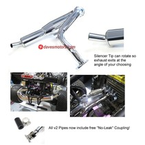 DDM REAR V2 DOMINATOR SILENCED PIPE WITH FREE X-PORT FOR BAJA  4897-CHROME