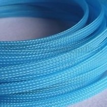 ACE 10MM PLASTIC MESH SLEEVING LIGHT BLUE PER METER