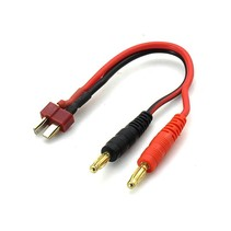 HY T (DEANS) PLUG WITH 4.0MM MALE PLUG SUIT CHG 14AWG X 200MM CHARGE LEAD<br />