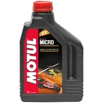 MICRO MOTUL 2T 2lt <br /> 100% synthetic lubricant specially formulated for 2 stroke engine model vehicles.
