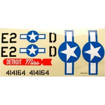 GREAT PLANES DECAL SET 1/12 COMBAT MUSTANG GPMA2625