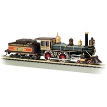 BACHMANN HO SCALE STEAM UNION PACIFIC AMERICAN 4-4-0 WOOD LOAD