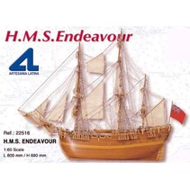 ARTESANIA H.M.S ENDEAVOR BARK 1768 1/60 SCALE