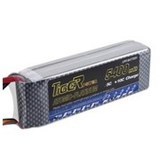 LION POWER - TIGER POWER LIPOS TIGER POWER LIPO 45C 11.1v 5400mah 42.7 x 136 x 30.5 377gr FITTED WITH XT90<br />  PLUG