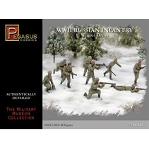 PEGASUS 1/72 WWII RUSSIAN INFANTRY WINTER DRESS 40 FIGURES