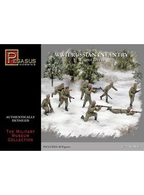 PEGASUS PEGASUS 1/72 WWII RUSSIAN INFANTRY WINTER DRESS 40 FIGURES