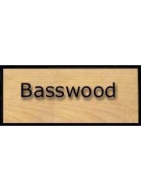 "SIG SIG BASSWOOD 1/16 X 3"" X 24"" 2 SHEETS"
