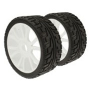 ACE IMPORTS ACE 1/8 RUBBER ON-ROAD WHEEL AND TYRE SET OF 4 PRE-MOUNTED REQUIRES GLUEING