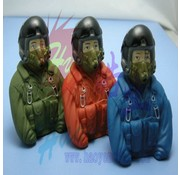HY MODEL ACCESSORIES HY SCALE PILOT JET  77 X 35 X 76  1/6  (A) BLUE OR (B) ORANGE OR   (C) GREEN<br />( OLD CODE HY310301 )
