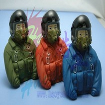 HY SCALE PILOT JET  77 X 35 X 76  1/6  (A) BLUE OR (B) ORANGE OR   (C) GREEN<br />