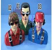HY MODEL ACCESSORIES HY SCALE PILOT CIVILIAN 85 X 42 X 90  1/6  RED<br />( OLD CODE HY310402 )