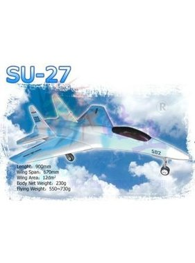 HY MODEL ACCESSORIES HY FOAM SU27 BIG MODEL REQUIRES 2 X HY 03-0601 FAN UNITS WITH BRUSHLESS MOTORS<br />( OLD CODE HY280301 )