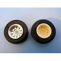 AUSLOWE LOW LOADER AXLE SET OF 4 TYRES AND 10 STUD RIMS