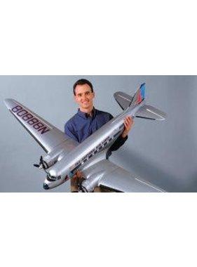 "TOPFLITE Top Flite Douglas DC-3 Twin Kit .25-.40 (2),82.5"""