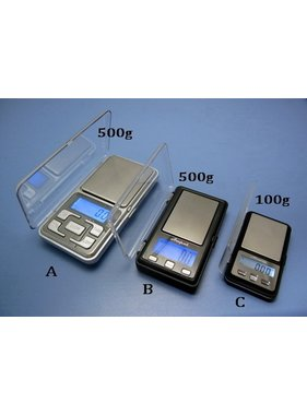 HY MODEL ACCESSORIES HY ELECTRONIC SCALES 500g±0.1g A BLUE BACKGROUND LIGHT/STAINLESS STEEL PAN<br />( OLD CODE HY134401 )