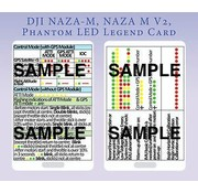 ACE RADIO CONTROLLED MODELS QUICK REFERENCE CARD  2 SIDED PLASTIC  TO SUIT DJI NAZA's QUICK REFERENCE CARD  2 SIDED CLIPS ONTO A LANYARD TO QUICKLY REFERENCE THE STATUS & SETUP LIGHT FLASHES  ON THE DJI NAZA-M NAZA-M LITE  NAZA V2 & PHANTOM SERIES MULTIROTORS