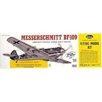 """GUILLOWS MESSERSCHMITT BF-109  24 3/8"""" WING SPAN - SCALE FLYING MODEL KIT  401LC"""