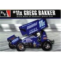 """DTR SPRINT CAR KIT 1:24 Gregg Bakker #11x """"State Bank of Fairmont"""" Sprint Car (1/24)"""