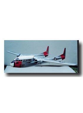 BRODAK DARE C119 FLYING BOXCAR ELECTRIC RC KIT 49.5'' WINGSPAN