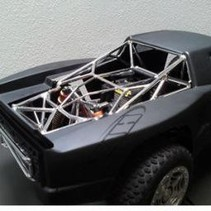 HBZ BAJA 5T SCALE ROLL CAGE CHROME