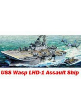 ACADEMEY ACADEMY GALLERY MODELS USS WASP AMPHIBIOUS ASSAULT SHIP + PHOTO ETCH  1/350 SCALE