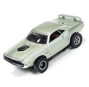 AUTO WORLD Auto World X-Traction  1971 DODGE CHALLENGER #4  HO SLOT CAR  AVAIL IN ORANGE OR METALIC GREEN  ( PRICE IS FOR 1 CAR )