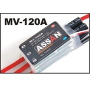 ASSAN ASSAN 120 AMP BRUSHLESS SPEED CONTROLLER WITH BEC 2-6 S LIPO.