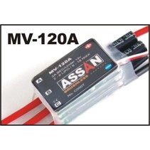 ASSAN 120 AMP BRUSHLESS SPEED CONTROLLER WITH BEC 2-6 S LIPO.