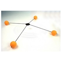 HY PLASTIC HUMBIRD TRAINING LEGS 4 BALLS  Yellow<br />