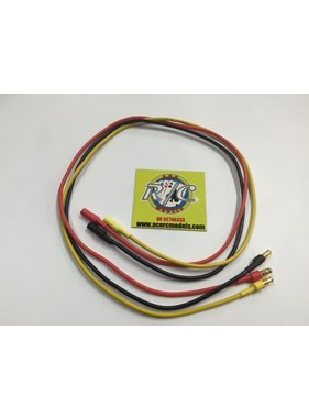 ACE RADIO CONTROLLED MODELS ACE BRUSHLESS MOTOR WIRE EXTENTIONS 3.5mm BULLETS 500mm LONG