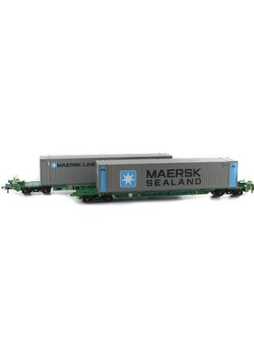 BACHMANN Intermodal Bogie Wagons With Two 45ft Containers 'Maersk'