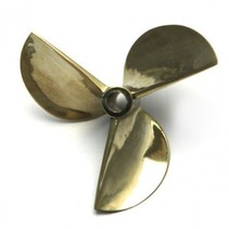 3 Blades Boat prop 37mm  Copper Alloy Counterclockwise Prop Semi Submerged Prop 4.76mm shaft for Electric or Nitro Boat