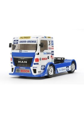 TAMIYA TAMIYA TT01 TYPE E RACING TRUCK MAN TGS TEAM HAHN RACING  (NEEDS SPEED CONTROLLER, 2CH RADIO, BATTERY AND CHARGER)<br /> <br /> same chassis &amp; body as TEAM REINERT
