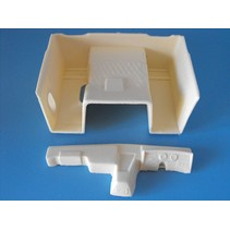 AUSLOWE RIGHT HAND DASH SUITS AMT COE FREIGHTLINER DASH AND FLOORPAN FOR SMALL CAB 1/25