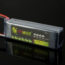TIGER POWER LIPO 45C 14.8V 2800MAH 32X35X106 FITTED WITH DEANS PLUG