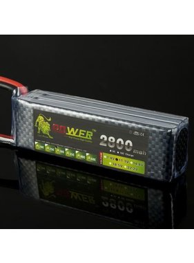 LION POWER - TIGER POWER LIPOS TIGER POWER LIPO 45C 14.8V 2800MAH 32X35X106 FITTED WITH DEANS PLUG