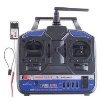 FLYSKY FS-T4B 4 CHANNEL TRANSMITTER WITH FS-R6B 6 CHANNEL RECEIVER