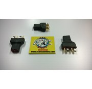 ACE IMPORTS ACE 2 X MALE TO 1 FEMALE DEANS PLUG ( SERIES ) ( SHORT NO WIRE TYPE ) DOUBLES VOLTAGE