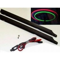 HY ILLUMINATED HELI ROTOR BLADES 325mm with 12v charger  <br />