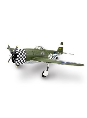 EFLITE E-Flite P-47D Thunderbolt RC Plane, BNF Basic with Retracts