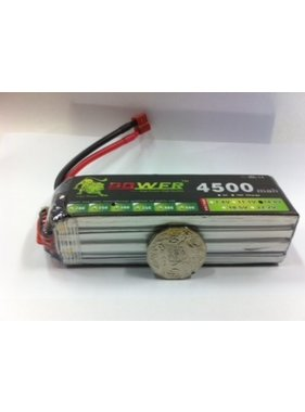 LION POWER - TIGER POWER LIPOS LION POWER LIPO 45C 14.8V 4500mAh READ SAFETY WARNING BEFORE USE 36x36x137mm 378g SOLD WITH DEANS PLUG