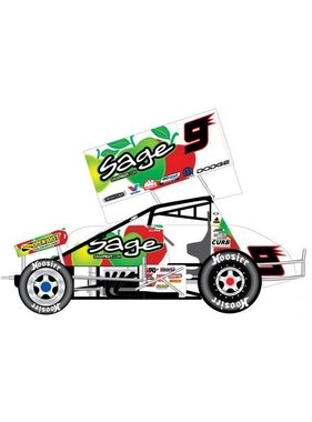 R&R SPRINT CARS 2007 KASEY KAHNE SAGE FRUIT 1/25 DIECAST SPRINT CAR