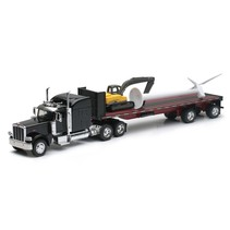 NEWRAY PETERBILT 389 WITH WIND TURBINE AND EXCAVATOR 1/32