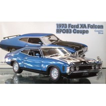CLASSIC CARLECTABLE 1/18 1973 FORD XA FALCON SEDAN RPO83 COUPE COSMIC BLUE ONLY 1000 PCE MADE  MISSING CERTIFICATE DIECAST MODEL WAS $240.00