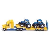 SIKU Truck with New Holland tractors 1/87