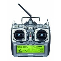 HITEC AURORA 9X 9CH 2.4GHZ COMPUTER RADIO SYSTEM tx and rx