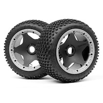 HPI BAJA 5B DIRT BUSTER TYRE HARD COMPOUND WITH BLACK WHEEL